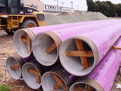 Purple Pipe Construction